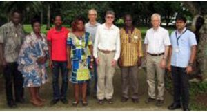 A new project to control bunchy top disease in West Africa launched by The University of Queensland