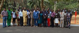 "A training workshop on ""Banana Bunchy Top Disease (BBTD) diagnosis, surveillance and emergency response"" was held 14 to 16 January 2019 at IITA, Ibadan, Nigeria. The workshop, sponsored by the CGIAR Research Program on Roots, Tubers and Bananas (CRP-RTB), was attended by 20 participants from Togo – Direction de la Protection des Végétaux (DPV), Institut de Conseil et d'Appui Technique (ICAT), and Université de Kara; Ghana – Plant Protection and Regulatory Services Directorate (PPRSD)]; and Nigeria – Nigerian Agricultural Quarantine Services (NAQS), National Horticultural Research Institute (NIHORT), the National Agricultural Seed Council (NASC), and ECOWAS.  The purpose of the workshop was to strengthen national capacity in disease surveillance and diagnosis and implement an emergency response to eliminate infected plants. The course offered hands-on training in the application of on-field diagnostics for the detection of BBTV using methods such as LAMP (Loop-mediated Isothermal Amplification) and RPA (Recombinase Polymerase Amplification) and using the Crop Disease Surveillance (CDS) mobile app for real-time surveillance and reporting.  BBTD is a devastating viral disease of plantain and banana caused by BBTV transmitted by the banana aphid (Pentalonia nigronervosa). ""BBTD outbreak in West Africa was first recognized in 2010 in Benin and 2011 in Nigeria,"" said Lava Kumar, IITA virologist and Head of IITA's Germplasm Health Unit, and organizer of the workshop. Various actions by the national programs and IITA have resulted in preventing disease expansion in these countries, he added. In September 2018, BBTV was detected for the first time in Togo, and the emergency response action implemented jointly by DPV-Togo and IITA had resulted in eradicating the disease detected in three locations in the country. ""Inadvertent distribution of BBTV-infected planting material has led to widespread occurrence of the virus in sub-Saharan Africa and the same factor may have led to the virus introduction in Togo,"" said Kumar.  During the country presentations, Mr John Obaje, Director of Plant Quarantine, NAQS presented surveillance and eradication activities to contain the disease in Nigeria, while Sunday Akinyemi, Director of Research at NIHORT gave an update on banana production recovery using virus-free planting materials in the affected regions of Ogun State, Nigeria. Akinyemi emphasized the importance of providing farmers with incentives during the recovery period to encourage participation in the control measures.  Adam Iddrisu Alidu, Head of Pathology, PPRSD Ghana; Ayaba Sanvee of DPV Togo, and Atti Tchabi of University of Kara, Togo, expounded on existing frameworks for containing regulated quarantine pests such as BBTD, and needs for implementing effective survillence.  Benoit Gnonlonfin, Sanitary and Phytosanitary (SPS) Standards Adviser of the ECOWAS Commission, presented on the regional SPS framework for prevention, containment, and control of emerging diseases. He stated that implementation of SPS procedures was poor due to limited funding, weak technical capacities, and poor communication and coordination among the stakeholders. Gnonlonfin further emphasized that technologies, procedures, protocols, and experiences from Nigeria will come handy in tackling BBTD in the subregion and urged participants to work together to contain the emerging threat on banana and plantain in the subregion. Particpants developed a BBTD containment plan based on ECOWAS SPS framework for prevention, preparedness, emergency response, recovery, and and coordination.  Training on the BBTD surveillance and diagnosis was carried throughout the workshop. A visit to IITA banana fields was organized and the participants were trained on the use of the CDS and data submission by Busayo Ogunya of the IT Unit. The CDS app usable on Android phones allows users to rapidly diagnose and communicate about diseases from the field. In the laboratory, participants were trained on DNA extraction and the use of new tools, LAMP, and RPA, for the detection of BBTV in field condition by Adedamola Oresanya of the Virology Unit. He highlighted the pros and cons of both methods for disease diagnosis. Methods to eradicate BBTV infected plants was organized by Yao Colombia and Taiwo Oviasuyi of Virology Unit. At the end of the workshop, participants lauded efforts of IITA and appreciated RTB, for sponsoring this workshop."